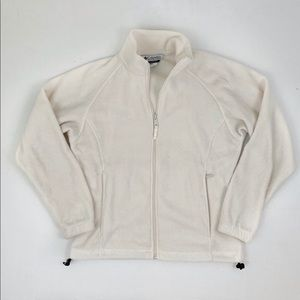 Columbia Women's Off White Fleece Full Zip Jacket